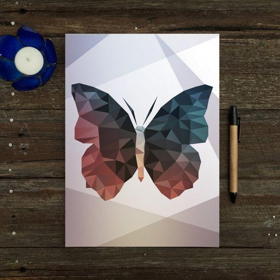 Notepad - Geometric Butterfly