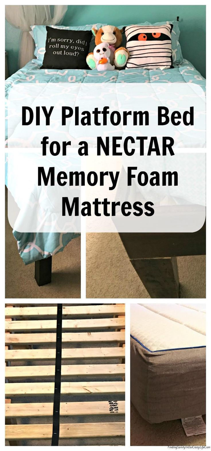 1560 best crafts diy ideas images on pinterest mason jar crafts holiday crafts and crafts - How to make a simple platform bed ...