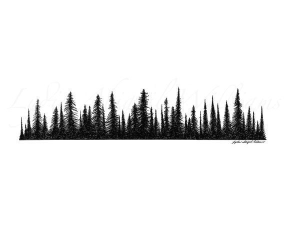 pine tree line silhouette - Google Search