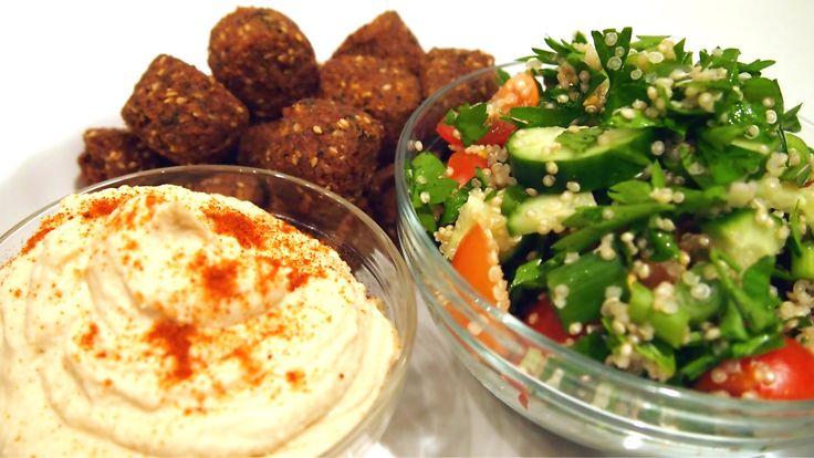 Egyptian Mezze Platter - Hummus and Quinoa Tabbouleh