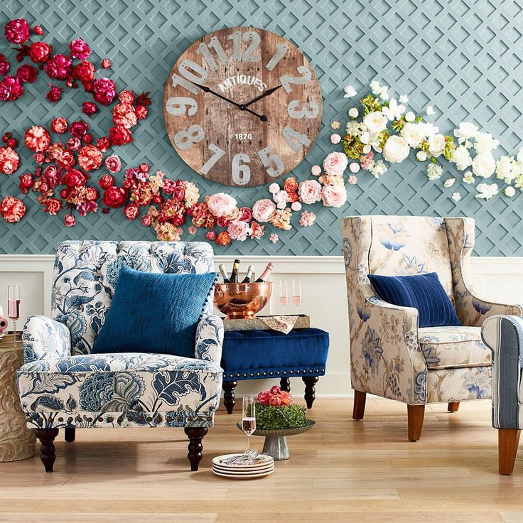 """7,684 Likes, 54 Comments - Pier 1 Imports (@pier1) on Instagram: """"Happy 2017! Who's ready for a fresh start? #pier1 #newyearday #spring #floral #springdecor #chair…"""""""