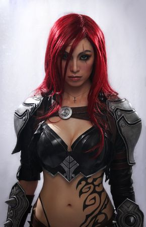 Katarina 'A New Dawn' Cinematic Version by ApotheosisCosplay League of Legends female fighter barbarian cosplay costume LARP LRP armor clothes clothing fashion player character npc | Create your own roleplaying game material w/ RPG Bard: www.rpgbard.com | Writing inspiration for Dungeons and Dragons DND D&D Pathfinder PFRPG Warhammer 40k Star Wars Shadowrun Call of Cthulhu Lord of the Rings LoTR + d20 fantasy science fiction scifi horror design | Not Trusty Sword art: click artwork for…