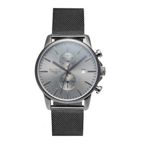 Koop dit Tayroc Iconic Black horloge TXM094 horloge online in onze webwinkel.                     Dit is een dames, heren, unisex horloge met een quartz uurwerk.                             De kleur van de kast is zwart en de kleur van het uurwerk is zwart.                             De kast is gemaakt van rvs en de band van het horloge van rvs.                             Het uurwerk is analoog en er wordt gebruik gemaakt van mineraalglas.                                     ...