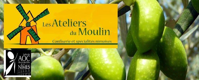 Les Ateliers du Moulin, olives de Nîmes, AOP, tapenade olive verte, olive noire, confiserie,