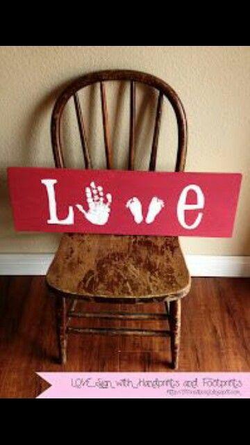 Valentine ideas for grandma. Each kid can do a letter