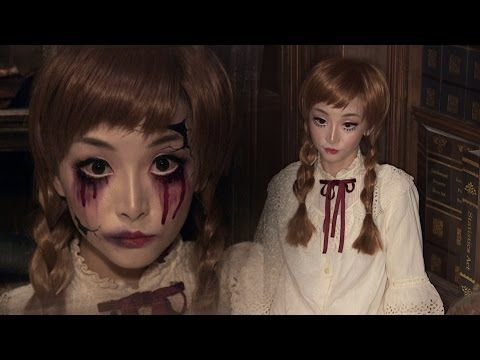 Vintage Doll + Broken Doll ✞ Halloween Makeup - YouTube