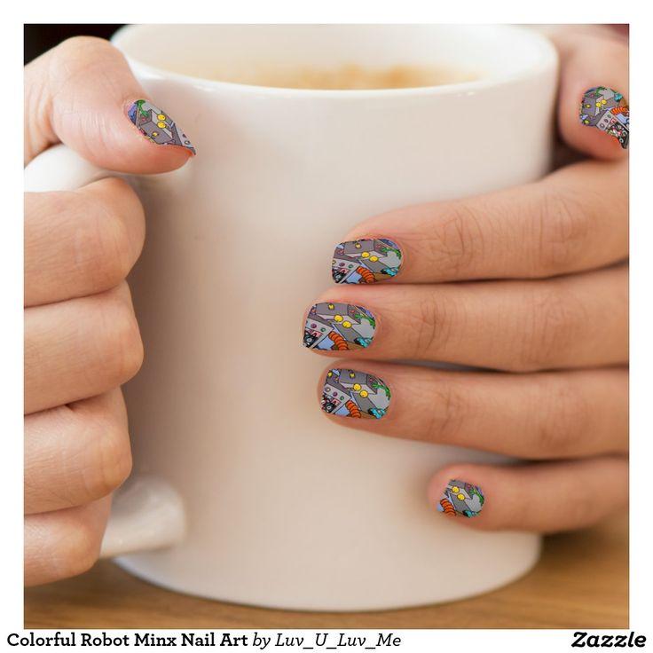 Colorful Robot Minx Nail Art Minx® Nail Wraps