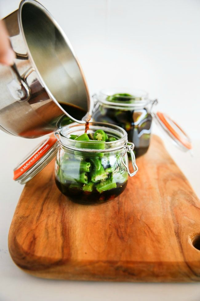 Korean Style Green Chilli Pickle Recipe   MyKoreanKitchen.com