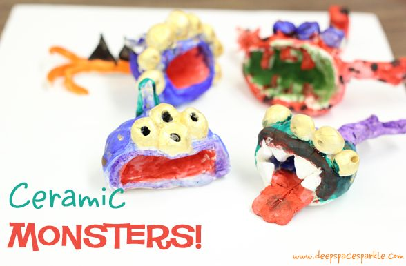 2/3: Clay pinch pot monsters: Clay Pinch Pots, Art Lessons, Grade Art, Deep Spaces Sparkle, Pots Monsters, Ceramics Monsters Art Projects, Elementary Art, 1St Grade, 2Nd Grade