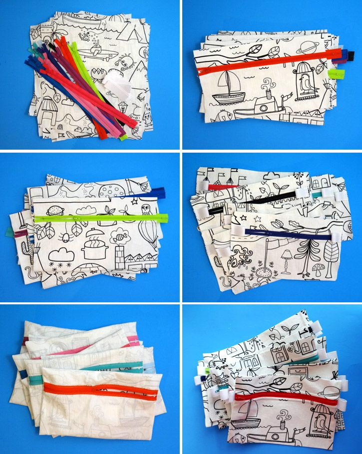 Thread Riding Hood - World's Fastest Pencil Case - easy sewing and could be turned into a cute wristlet!