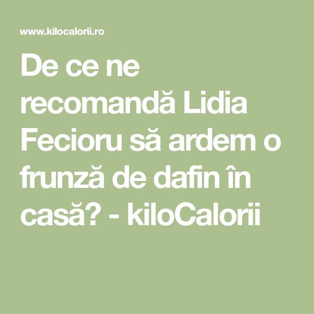 De ce ne recomandă Lidia Fecioru să ardem o frunză de dafin în casă? - kiloCalorii