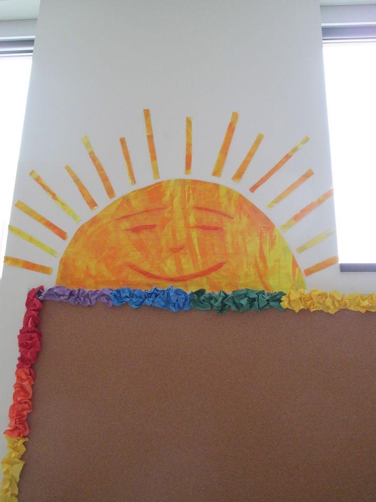 Orange Classroom Decor ~ Best ideas about sun bulletin boards on pinterest