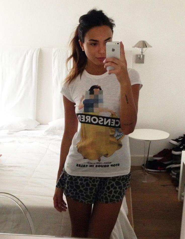 "Chiara Biasi wears Bazaretto Graphic Tee ""Censored"" by Tee Trend #chiarabiasi #bazaretto #teetrend #glamourinrose #graphictees #tshirt #disneyprincess #censored"