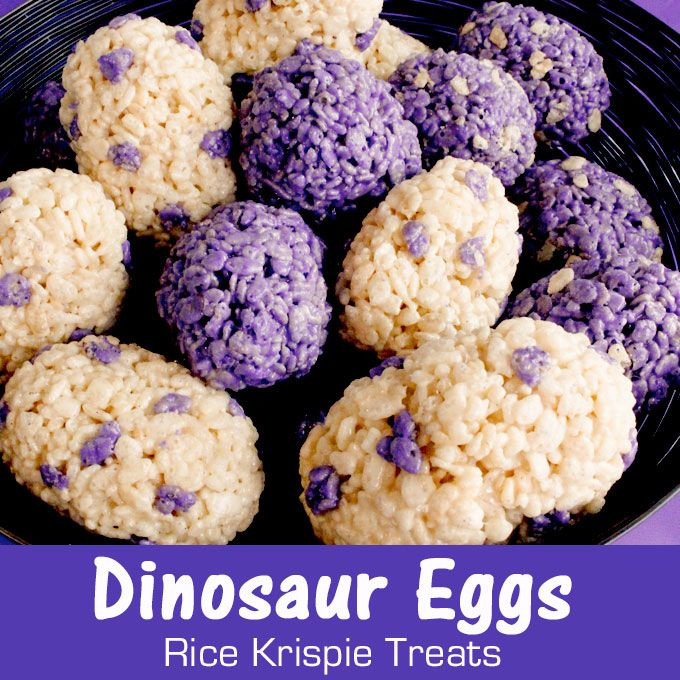 Dinosaur Eggs Rice Krispie Treats are a fun and easy to make treat, Make them in an color and wow the guests at your Dinosaur Party with this yummy dessert.