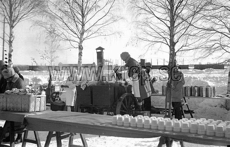 Göteborg 11 mars 1928 Kokvagnen vid Vasaloppet 1928 Foto: Kamerareportage