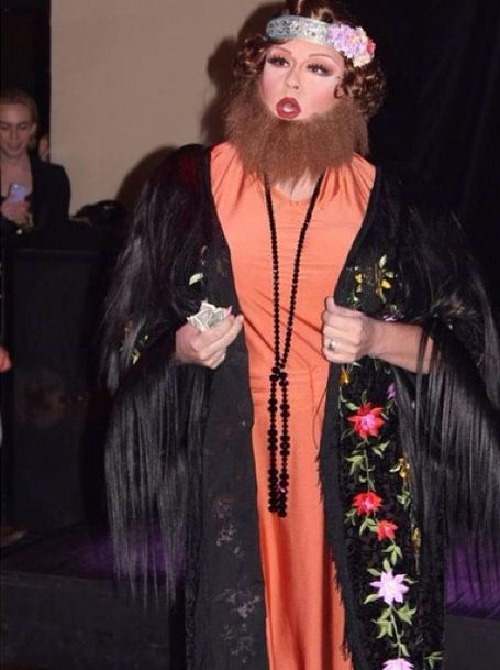 this darling bearded lady is beyond beautiful drag queens galore family halloween
