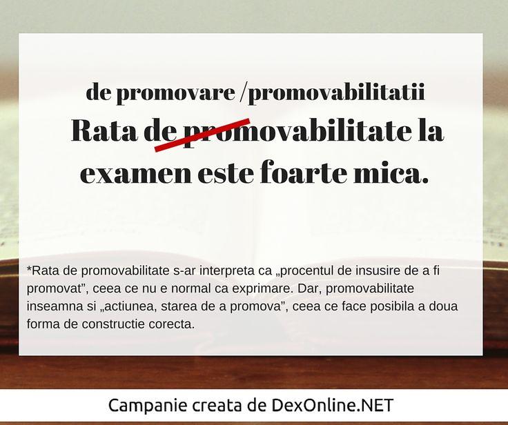 Salvam limba romana impreuna! #salveazalimbaromana #dex #gramatica http://dexonline.net/definitie-promovabilitate