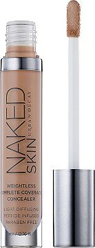Hide even your most scandalous flaws with Urban Decay's Naked Skin Weightless Complete Coverage Concealer. This revolutionary high-coverage formula provides buildable, weightless coverage with an invisible Naked Skin finish.