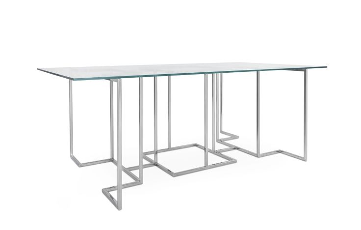OCTAVO TABLE #BrahmansHome #BrahmansFiveElements #Brahmans #octavo #table #glass #steel #dining #design #interiordesign #luxury #furniture #interiors #home #inspirations