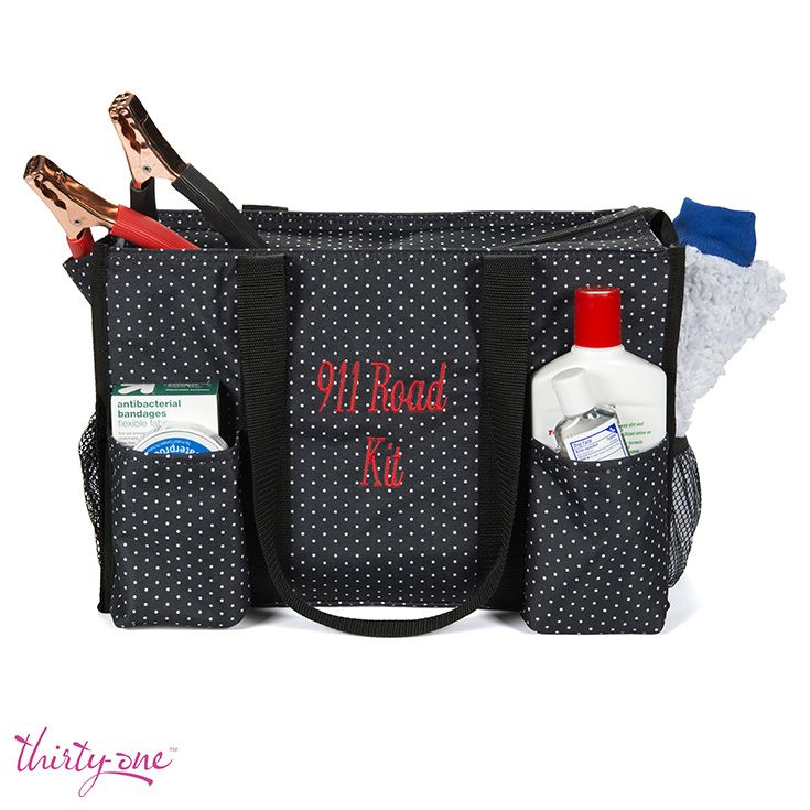 Zip-Top Organizing Utility Tote as an emergency road kit www.mythirtyone.com/rosandrasimmons