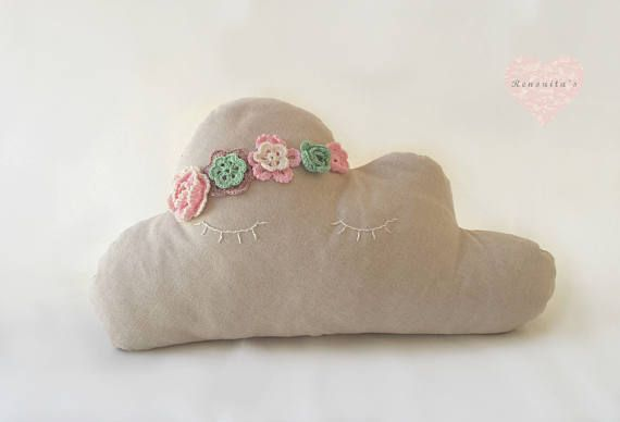 Spring dancer cloud nursery baby pillow  baby pillow  baby