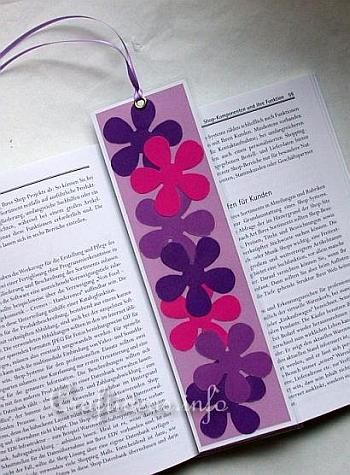 Spring Craft for Kids - Flower Power Bookmarker Craft Idea