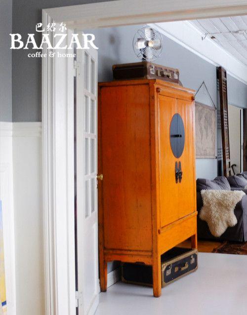 www.baazar.se  H-163 orange, brudskåp, bröllopsskåp, kina, antikt, wedding, cabinet, china, colurfull, old, skåp, klädskåp, vardagsrum, tv, media, förvaring, garderob, asien, orientaliskt, baazar, bazar,