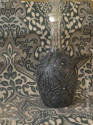 Декор предметов Аппликация из скрученных жгутиков Пейп-арт Графин Салфетки фото 12