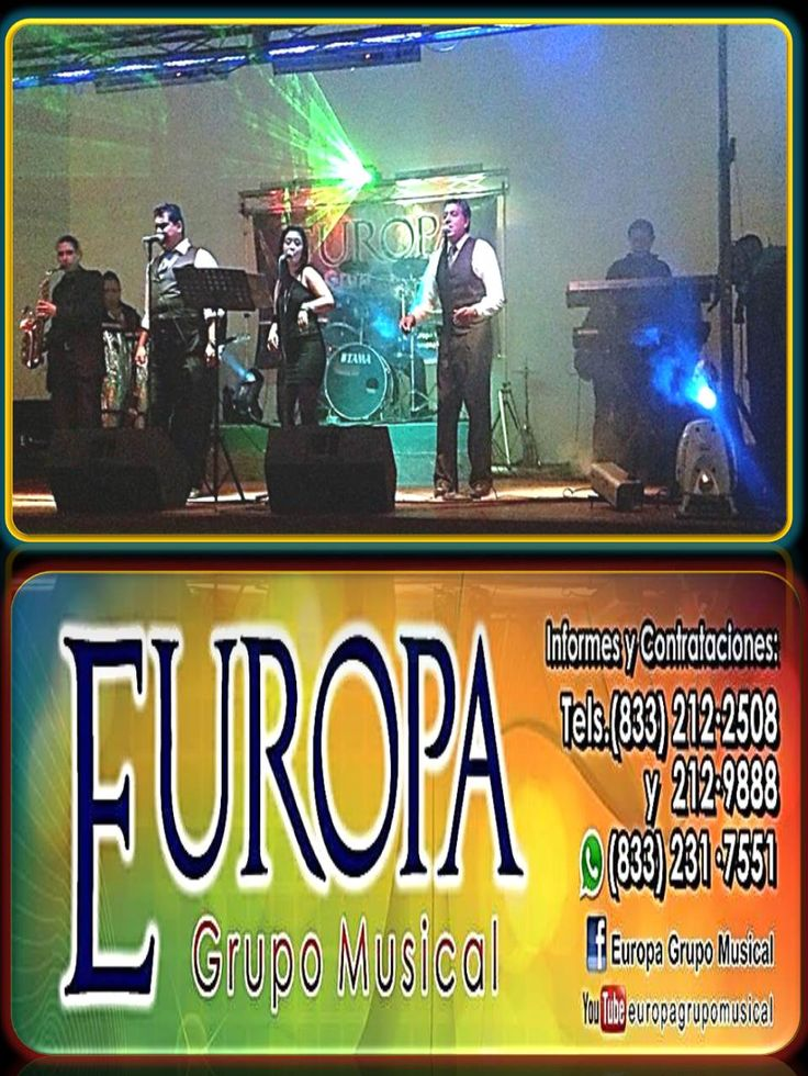 """""""GRUPO MUSICAL EUROPA"""" OFRECEMOS MUSICA DE MUCHO AMBIENTE PARA ESE EVENTO ESPECIAL,  BODA  QUINCEAÑERA  GRADUACION POSADAS. PARA ESTE 14 DE FEBRERO DIA DEL AMOR Y LA AMISTAD,  CELEBRA EL DIA DE SAN VALENTIN. SOLICITA TU AUDICION EN VIVO  SAXOFONISTA A LA HORA DE LA CENA,  Y EN EL BAILE… EL MEJOR AMBIENTE¡. COMUNICATE AL TELEFONO : 833 212 25 08 833 212 98 88 Y AL CELULAR : 833 231 75 51 Programa Run Jhon Run #tampico"""