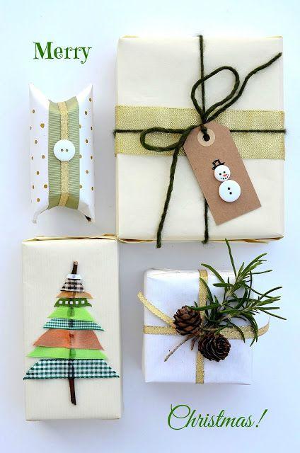 Tutorial: pacchetti di Natale creativi pi� decorazione da muro natalizia