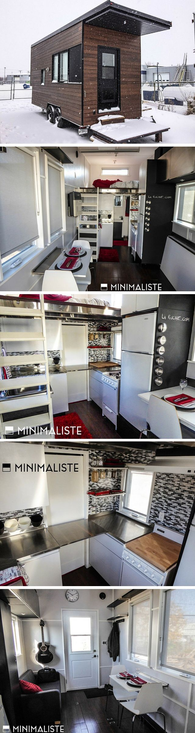 The Sequoia from Minimaliste: a 220 sq ft tiny house made in Quebec, Canada
