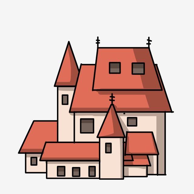 بناء القلعة المنزل بيت بيت بناء المنزل Png وملف Psd للتحميل مجانا Cartoon Building Castle Cartoon Building