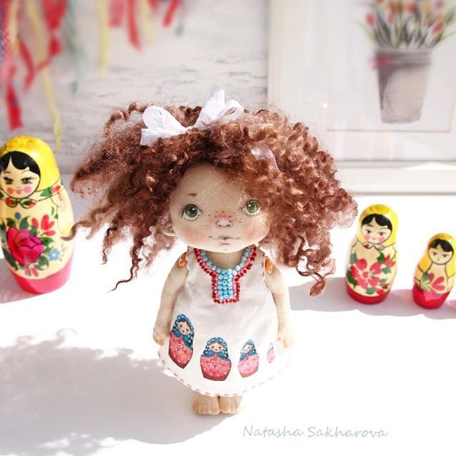 Куколка из серии работ #Матрешки . Рост 20 см, стоит с опорой. Малышка продана. _________________________________ #куклысахаройнатальи #матрешка #русскийстиль #matryoshka #dollmaker #куклаизткани #handmade