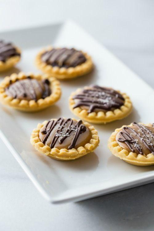 Mini Salted Caramel Chocolate Pies