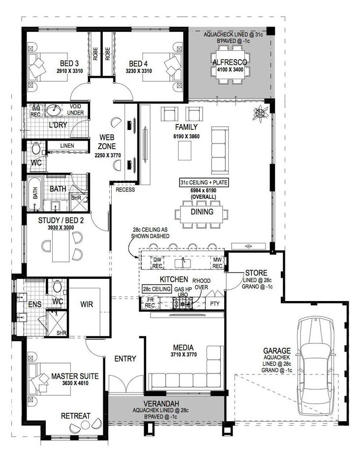 The 7 best House Plan - 15m images on Pinterest | Blueprints for ...