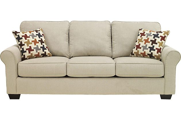 This is what I want!  Neutral, comfortable furniture that I can customize with my own pillows and  throws.