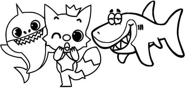 12 Best Baby Shark Pinkfong Coloring Sheets For Children Coloring Pages Shark Coloring Pages Baby Shark Coloring Pages