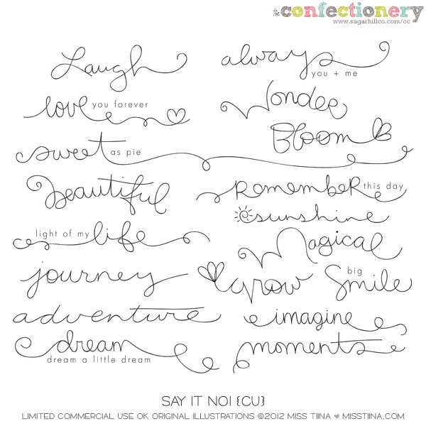 SHCO Confectionery - CU - Doodles/Brushes - Say It Doodles No1 {CU} --EXCLUSIVE-- Join at http://www.sugarhillco.com/cc