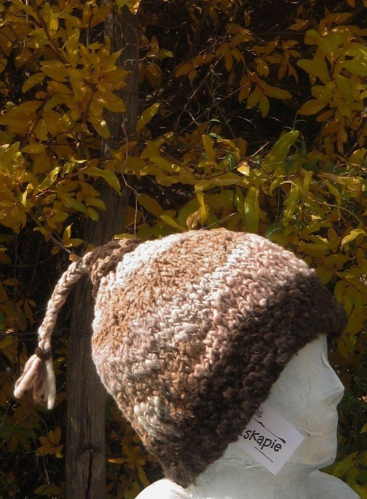 iskapie hand spun 100% merino wool beanie hat natural plant dyes hand knit L  #iskapie #Beanie