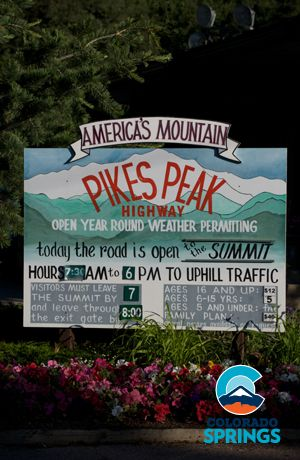 Visit the summit of 14,115 foot Pikes Peak four ways - take the Cog Railway, drive the Pikes Peak Highway, bike up the Pikes Peak Highway or hike Barr Trail #ColoradoSpringsVacation