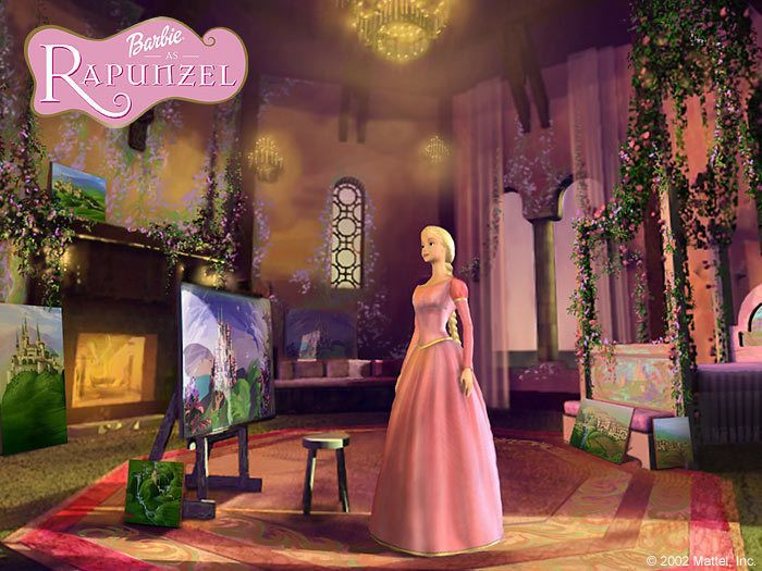 Barbie as Rapunzel - I watched this like a thousand times when I was little!