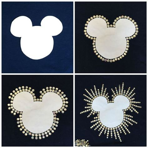 DIY Mickey Rhinestone Shirt