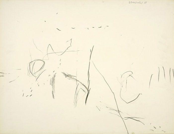 Armando in Main d'oeuvre | 20 jaar Ergo Pers Zonder titel, 1958 (nr. 37), MOA Museum Oud Amelisweerd http://www.ergopers.be/maindoeuvre/album/armando3.htm