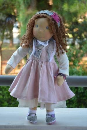 Artemis doll - Waldorf inspired handmade by Katerina Maletzidou