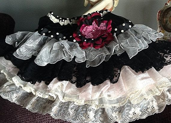 Sample Sale Black Hot Pink and ivory pale pink by Babybonbons