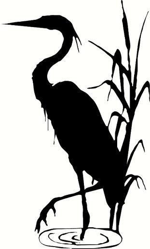 wall decal Blue heron crane decor nature animal beach decal summer decal living …