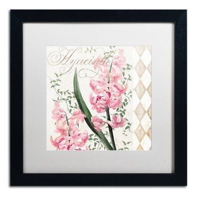 Trademark Art 'Hyacinth' by Color Bakery Framed Graphic Art
