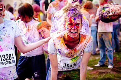 The Color Run, 5K and some colored powder fight. Date: 07/14 - London, 21/07 - Manchester, 24/08 - Belfast