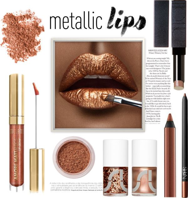 Metallic lips - copper
