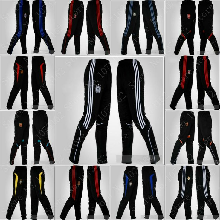 Man Football Pants Boy Sweatpants Men Soccer Trousers Sportwear Waist Elastic Long Pants Tights Training Athletic Gym Jogging $27.50